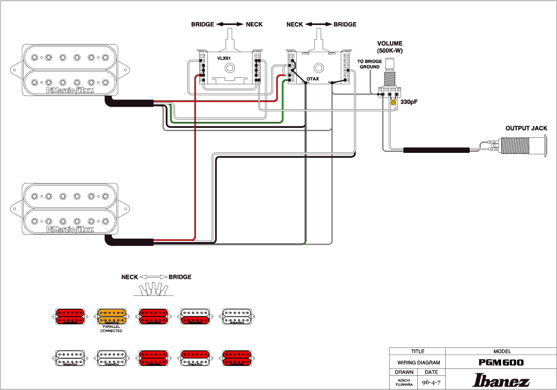 Ibanez Hh Wiring Diagram : Ibanez hsh or hh with coil tap the gear page