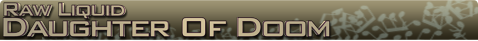 Daugter of doom Name banner